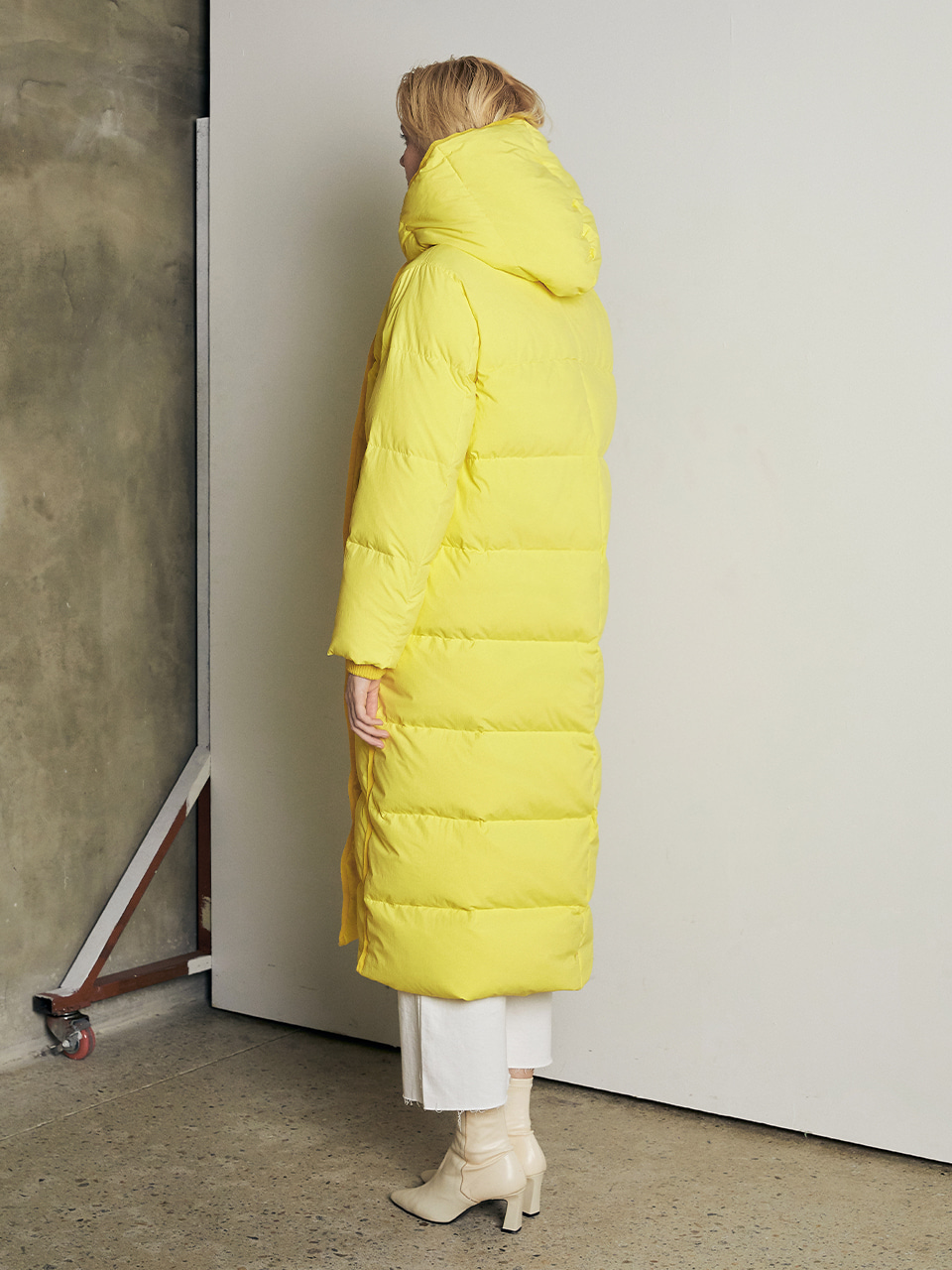 VIVID GOOSE DOWN LONG JACKET_YELLOW