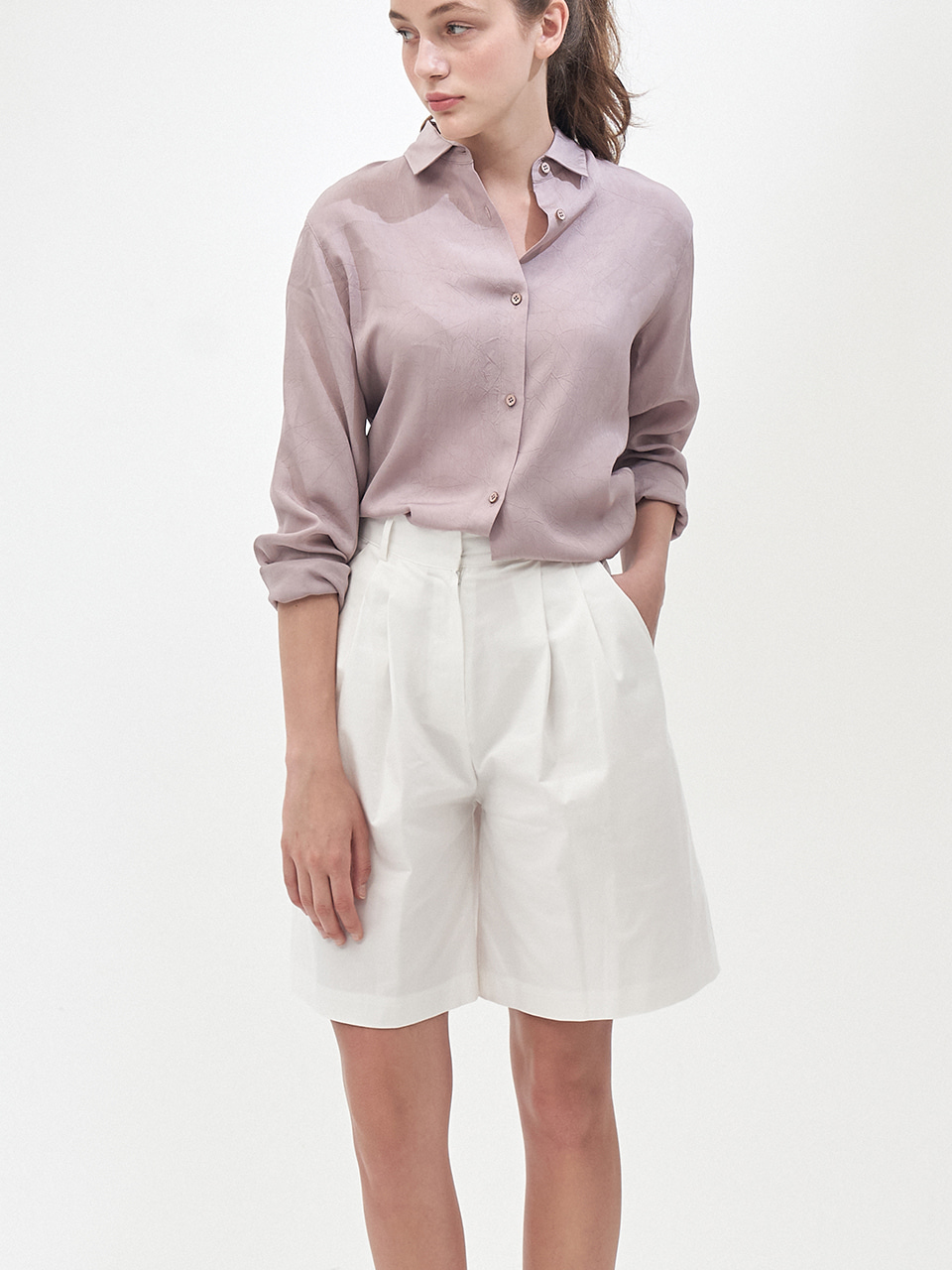 COTTON BERMUDA SHORTS_WHITE