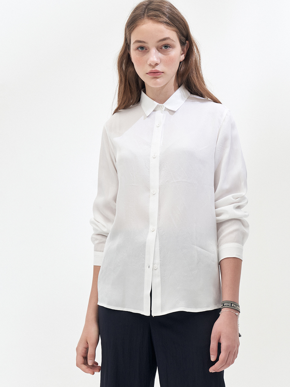 LONG SLEEVE SHERBET SHIRT_WHITE