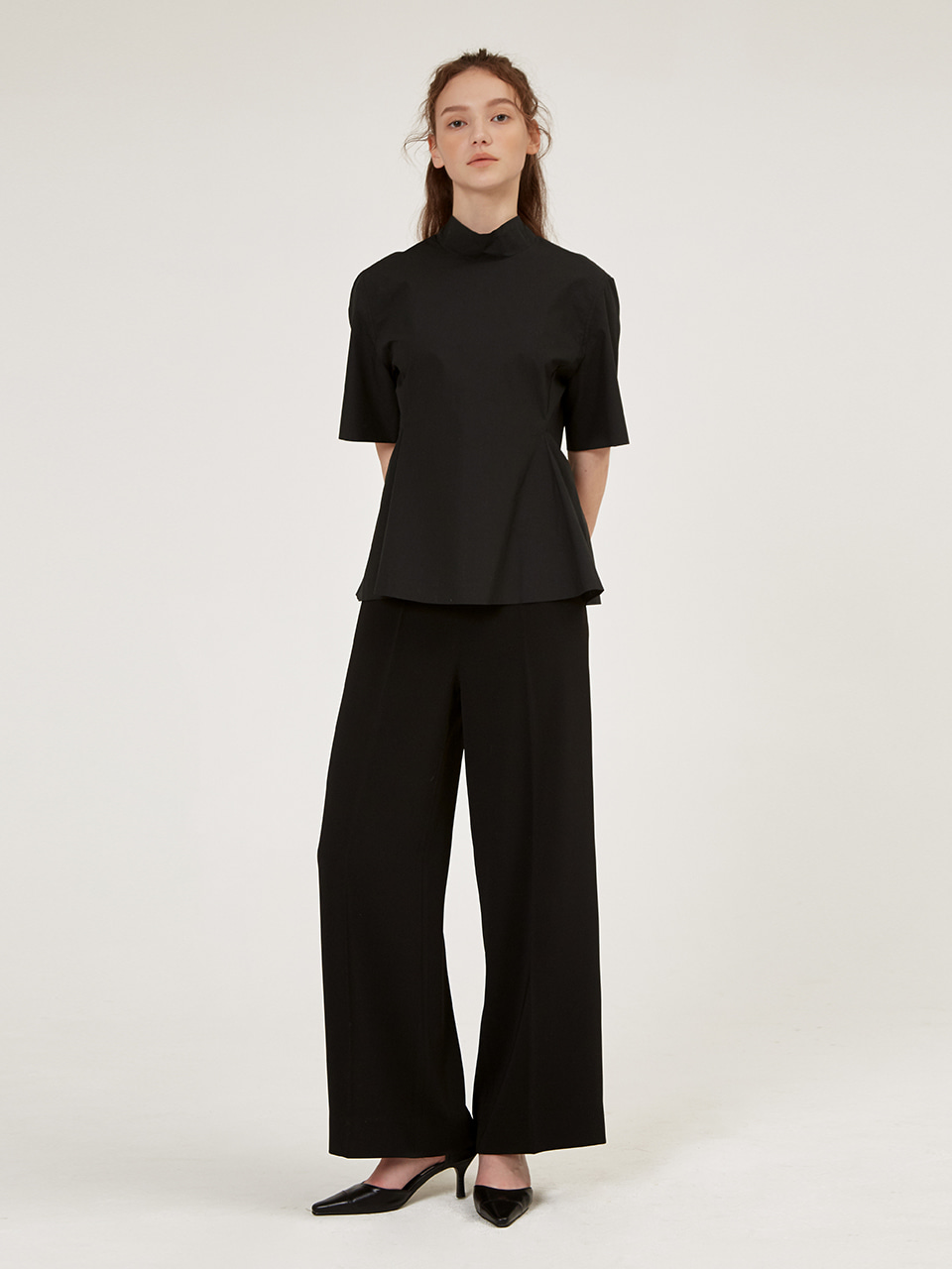 WIDE-FIT SLEEK TROUSER [Tan] [Black]